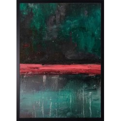 obraz red green abstract
