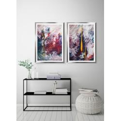 Obraz kolorowa inspiracja I