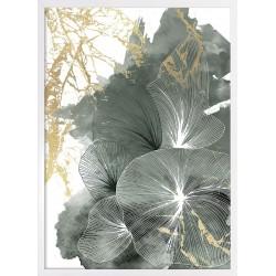 obraz green linear flowers