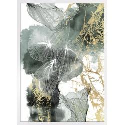 grafika green linear flowers