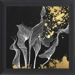 obraz gold abstract linear