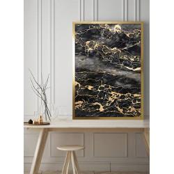 Obraz black marble