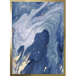 obraz gold and navy marble