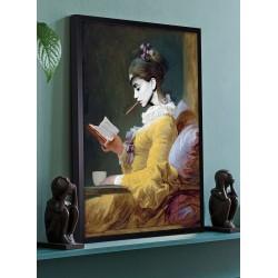 Obraz kobieta z książką