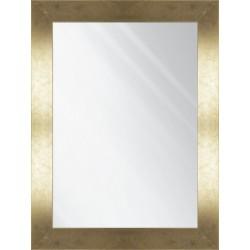 tafla lustra w złotej ramie
