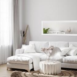 Lustro MALMO białe matowe