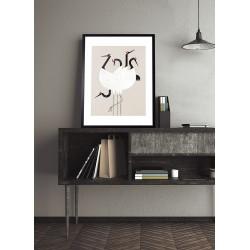 Obraz żurawie zen