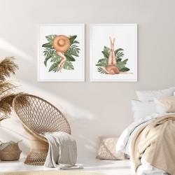 Obraz kobieta w tropikach I