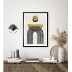 Obraz złote kształty zen