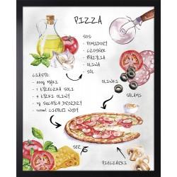 grafika z pizzą