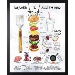 burger z sosem bbq